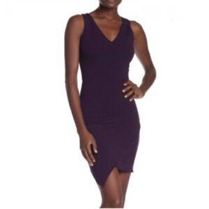 Love...ady Purple V Neck Sleeveless Sheath Dress